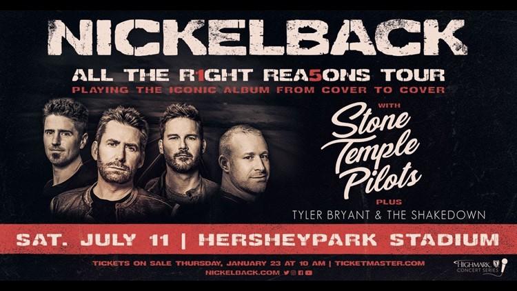Nickelback, Stone Temple Pilots & Tyler Bryant and The Shakedown at Hersheypark Stadium