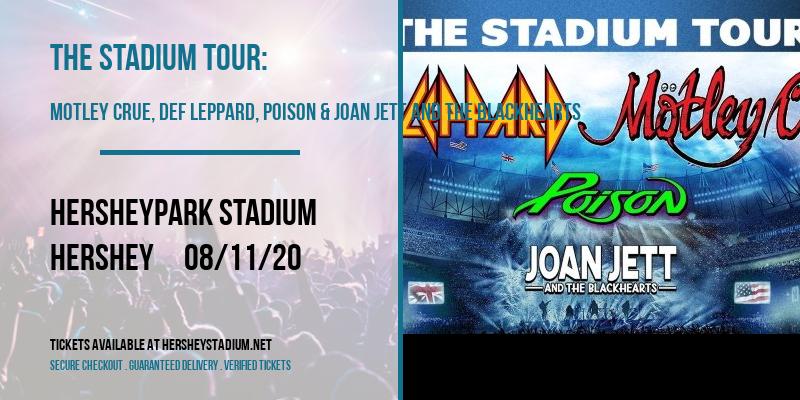 The Stadium Tour: Motley Crue, Def Leppard, Poison & Joan Jett and The Blackhearts at Hersheypark Stadium