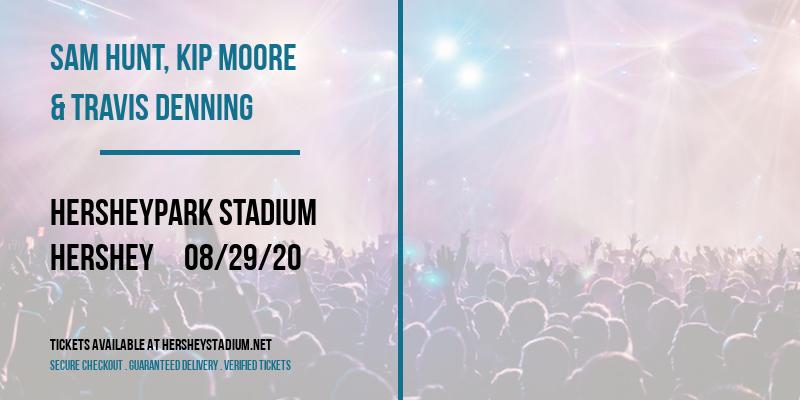 Sam Hunt, Kip Moore & Travis Denning at Hersheypark Stadium