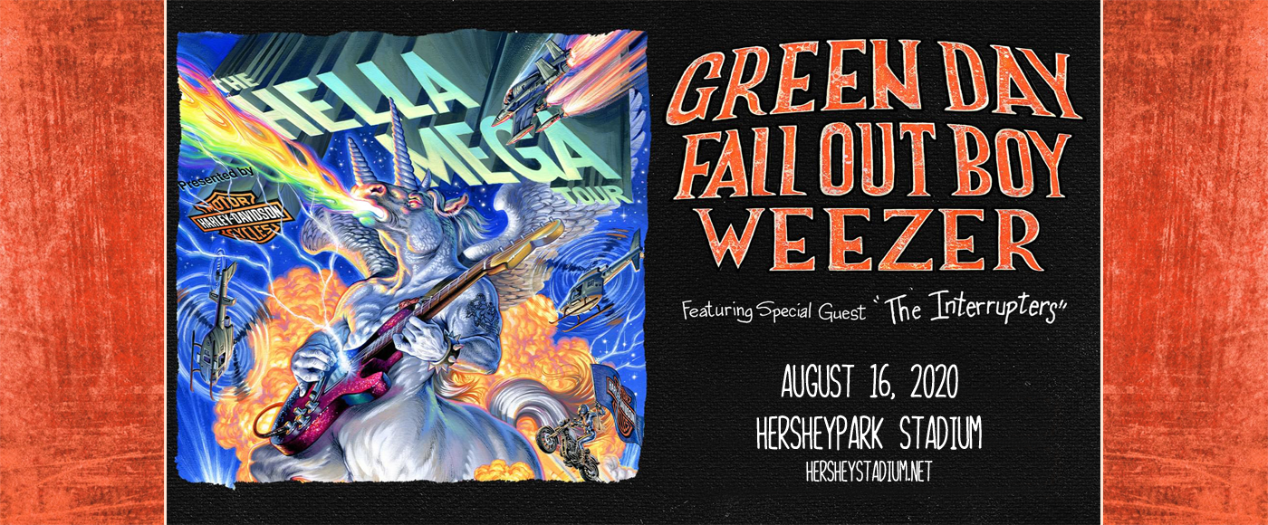 Hella Mega Tour: Green Day, Fall Out Boy, Weezer & The Interrupters [POSTPONED] at Hersheypark Stadium